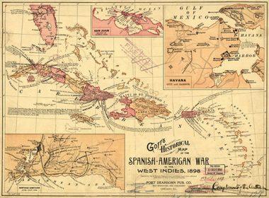 Map of Caribbean during Spanish American War