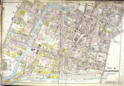 Map of Hartford, 1909